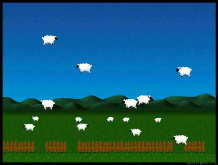 Sheep vs. Gravity Screensaver