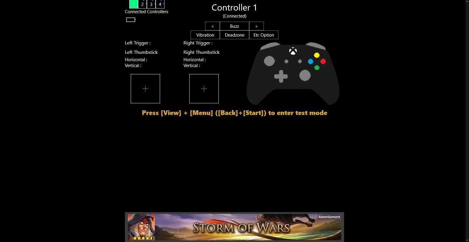 Game Controller Tester