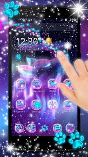 Night Sky Spirit Wolf Live Wallpaper