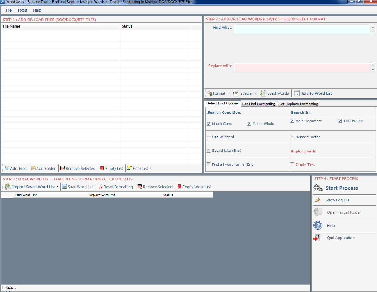 word search replace tool