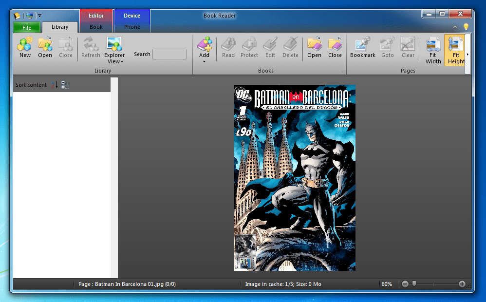 comic book reader for blackberry