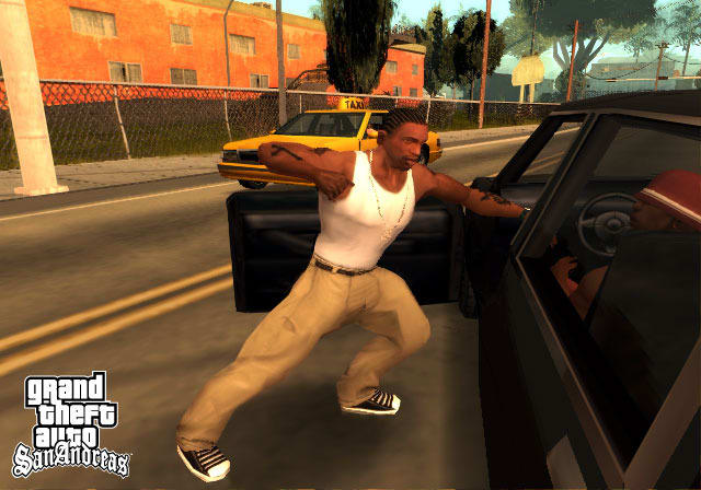GTA: SAN ANDREAS  - Carl Johnson, protagonista do game