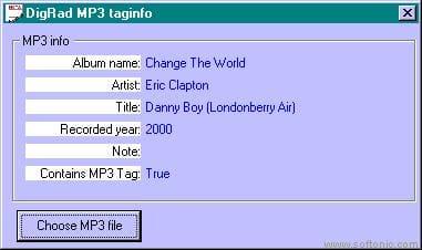DigRad MP3 Tag Info