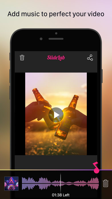 SlideLab - Add Music to Photos & Slideshow Editor