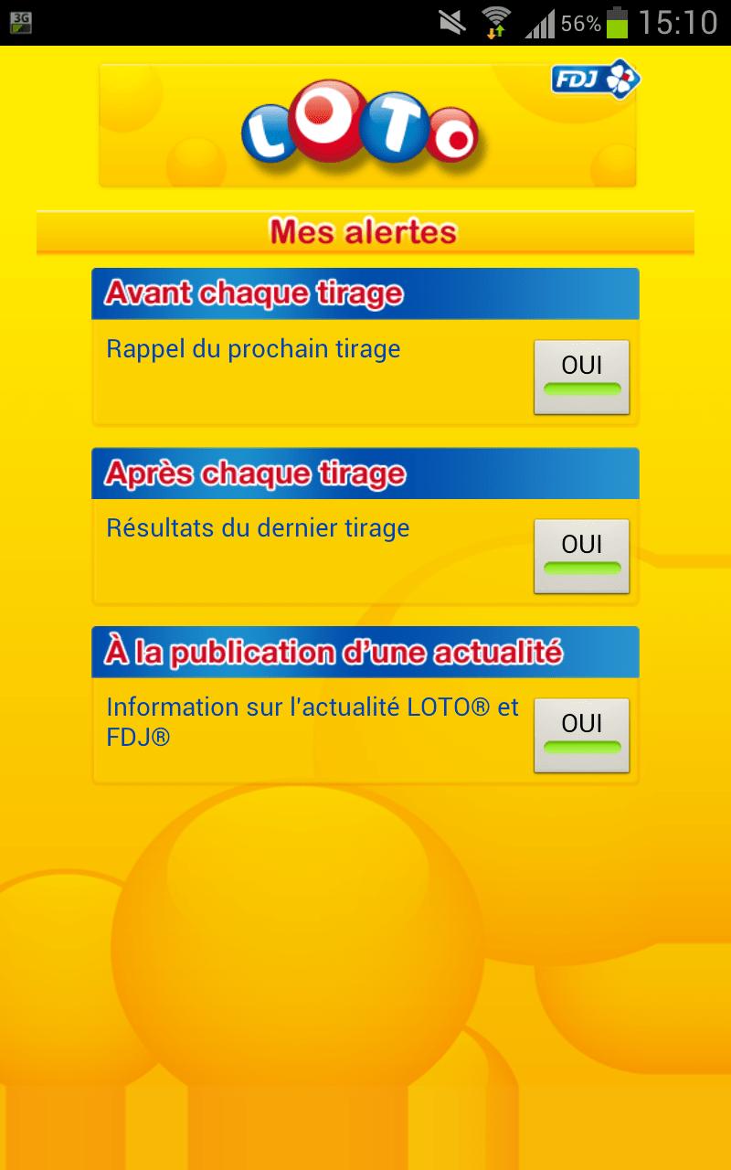 loto gratuit application