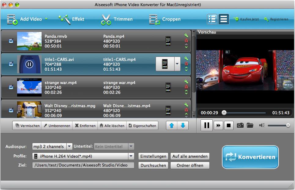 Aiseesoft iPhone Video Converter für Mac
