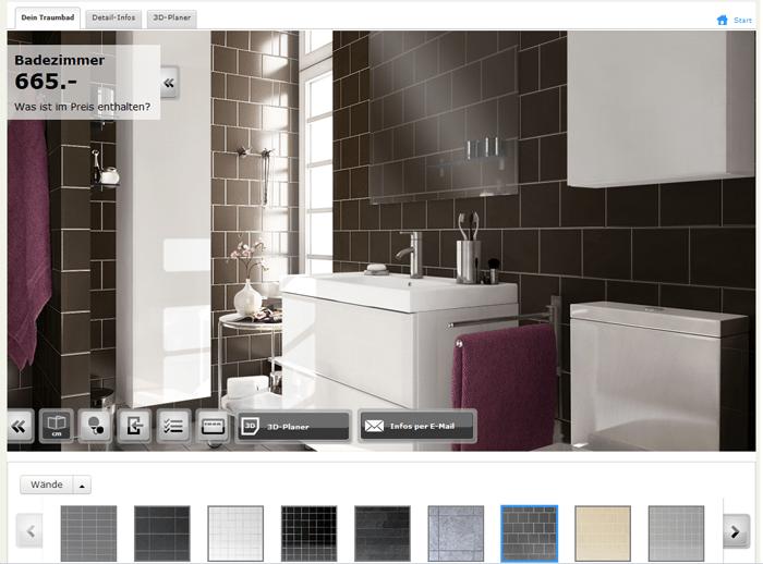 Mit Dem IKEA Badezimmerfinder   Ehemals Badezimmerplaner   Richtet Man  Virtuell Das Eigene Bad Mit Ikea Möbeln Ein. Die Kostenlose WebApp Greift  Dabei Auf ...