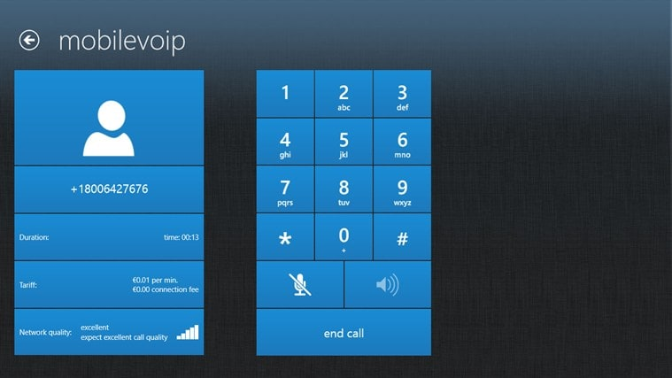 MobileVoIP pour Windows 10