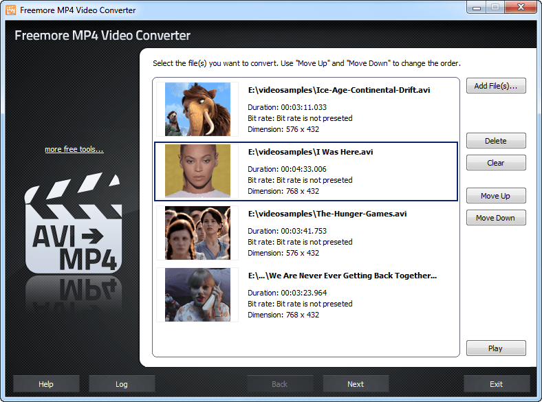 Freemore MP4 Video Converter