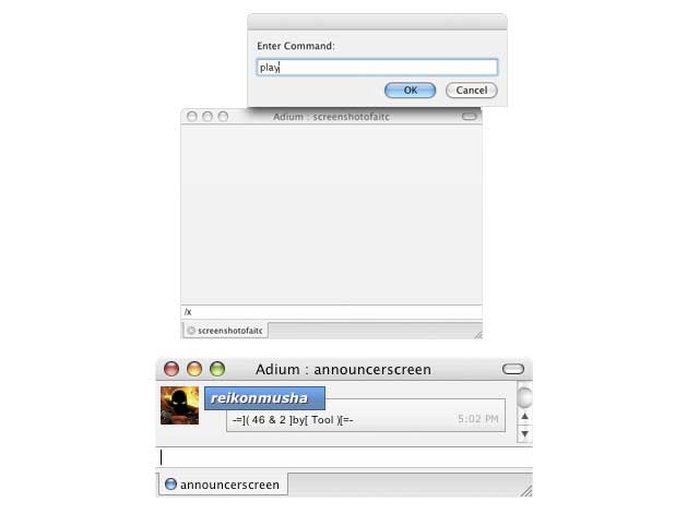 Adium iTunes Controller