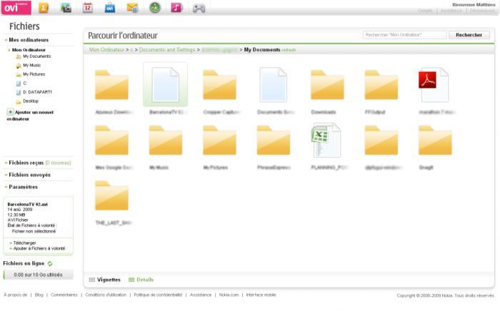 Ovi Fichiers