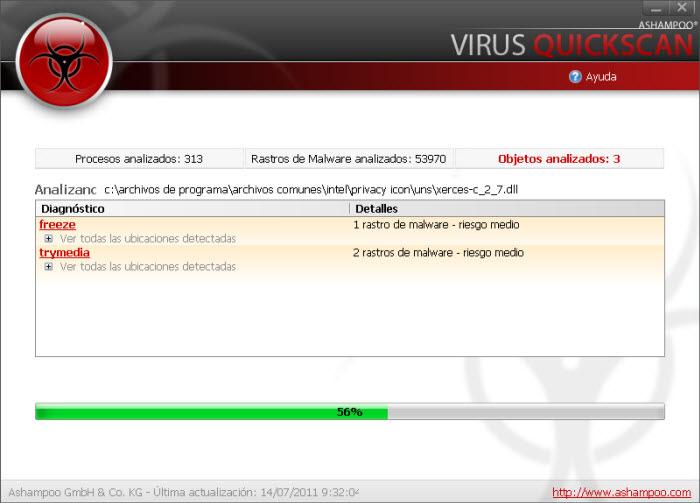 Ashampoo Virus Quickscan Free Descargar