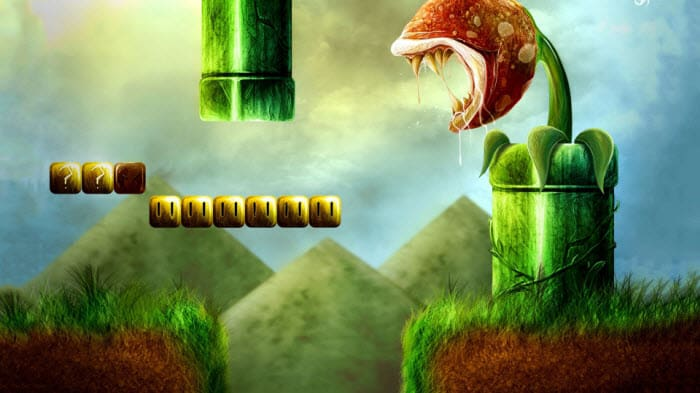 Super Mario Plants Wallpaper