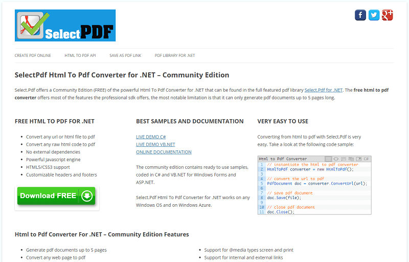 SelectPdf Html To Pdf Converter for .NET