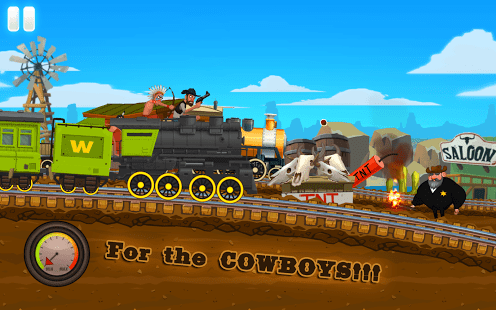 Western Train Driving Race