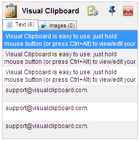 Visual Clipboard