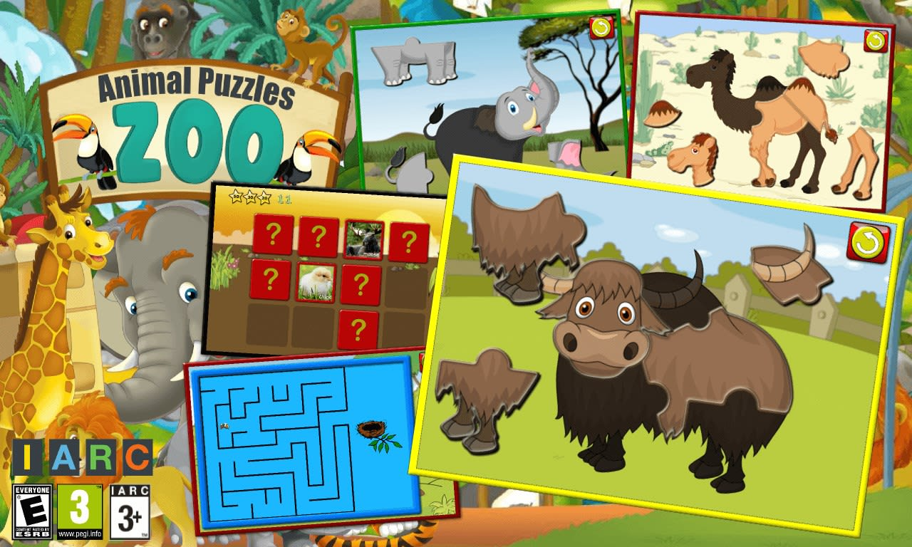 kids zoo animal jigsaw puzzle shapes download