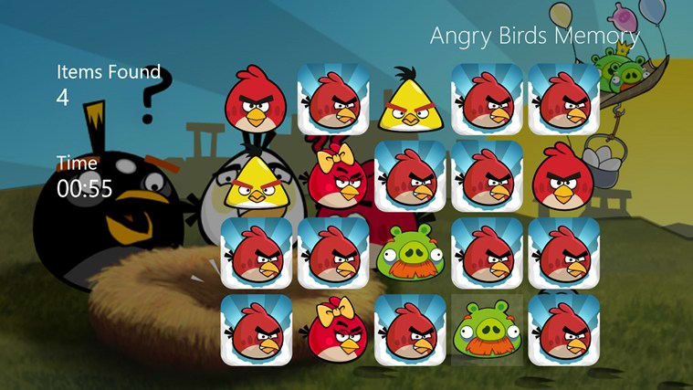Angry Birds Memory Game for Windows 10