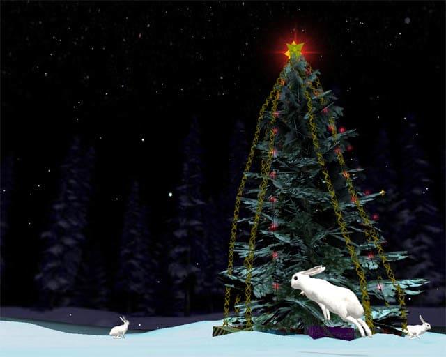 Free Christmas Tree 3D Screensaver