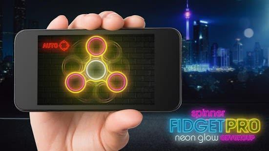 Fidget spinner neon glow pro