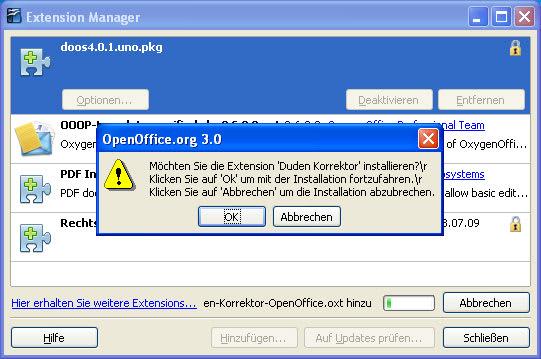 Duden Korrektor fu00fcr OpenOffice.org und StarOffice - Download