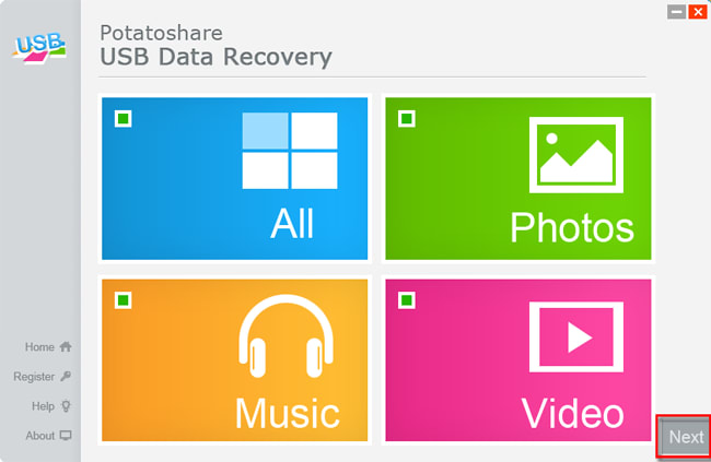 Potatoshare Card Data Recovery