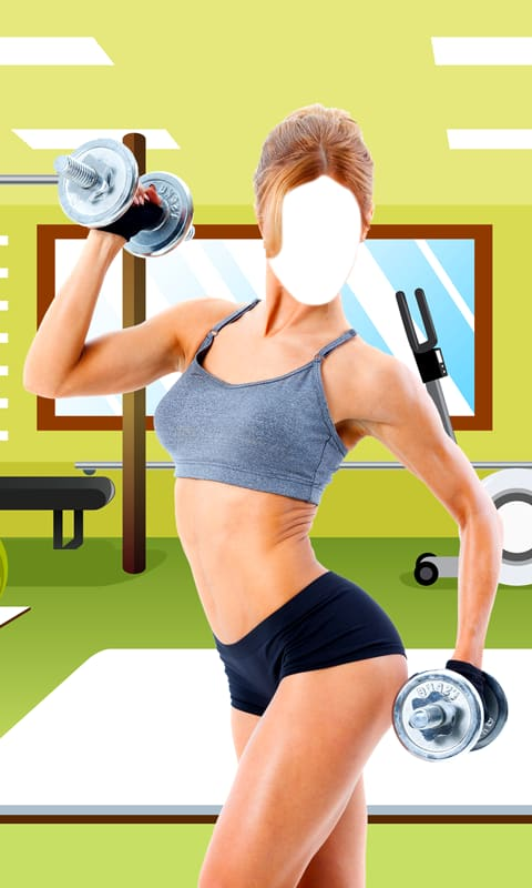 Fitness Girl Photo Suit Editor