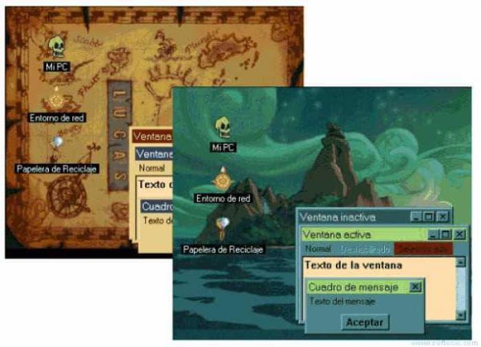 The Curse of Monkey Island Desktop Theme