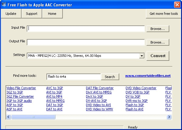 Free Flash to Apple AAC Converter