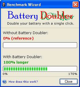 Battery Doubler: Double your battery's autonomy with little to no concessions