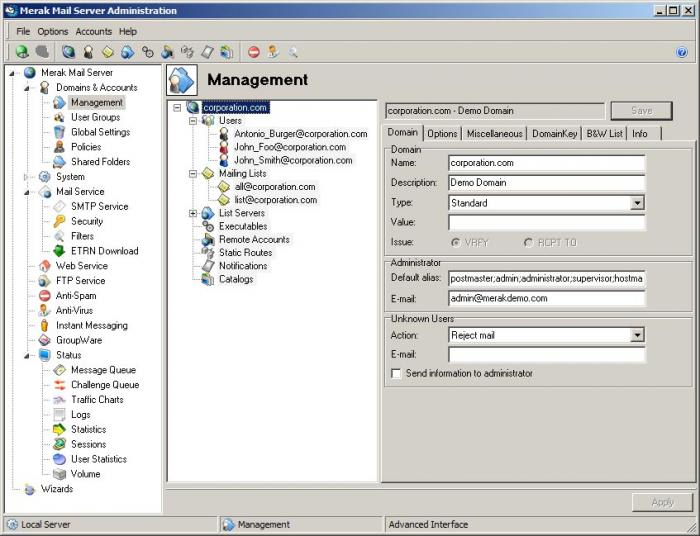 Merak Email Server Suite