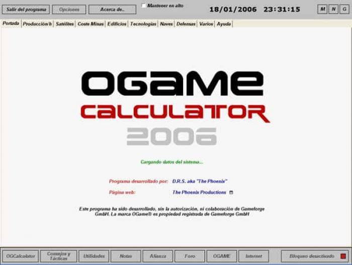 OGAME Calculator
