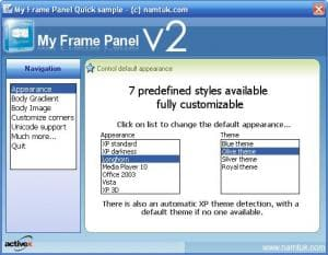 My Frame Panel ActiveX