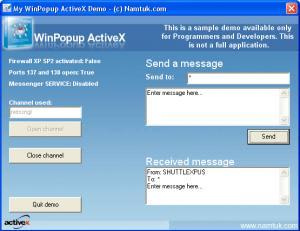 WinPopup ActiveX