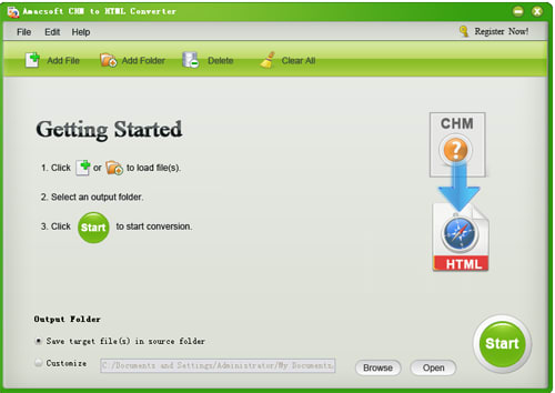 Amacsoft CHM to HTML Converter
