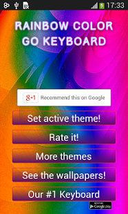 Rainbow color GO Keyboard