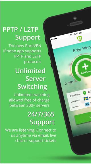 PureVPN Free VPN for iOS