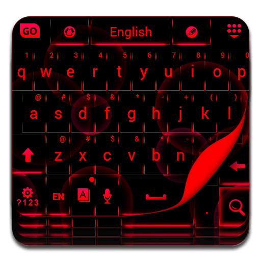 Neon Red Keyboard