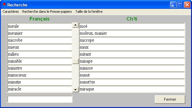 Dictionnaire français-ch'ti, ch'ti-français