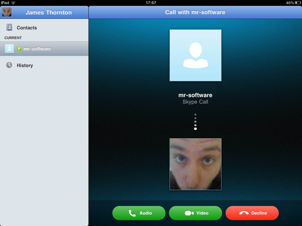 how to use skype on ipad 2