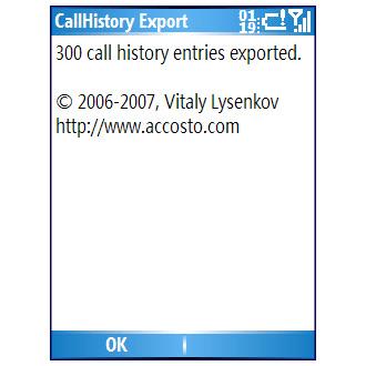 CallHistory Export
