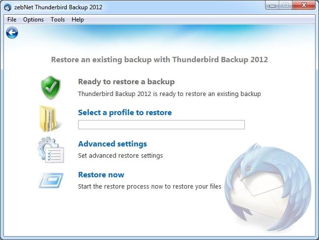 Thunderbird Backup 2012