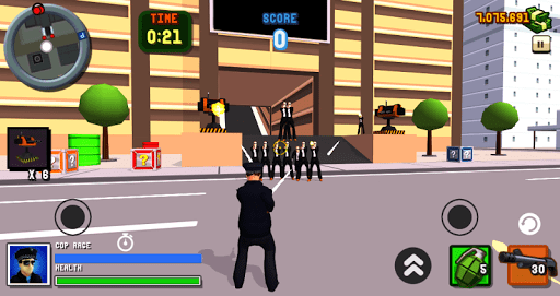 San Andreas Angry Cop 3D City