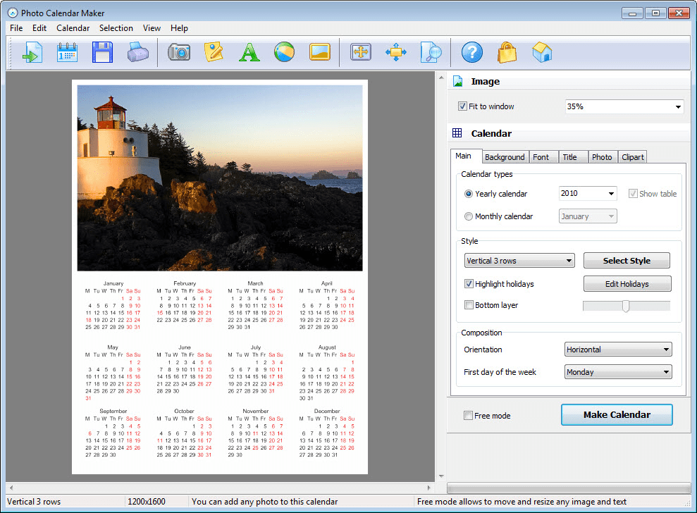 Art Explosion Calendar Maker Review : Photo calendar maker download