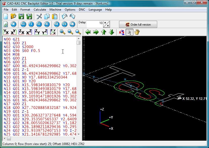 CNC Backplot Editor