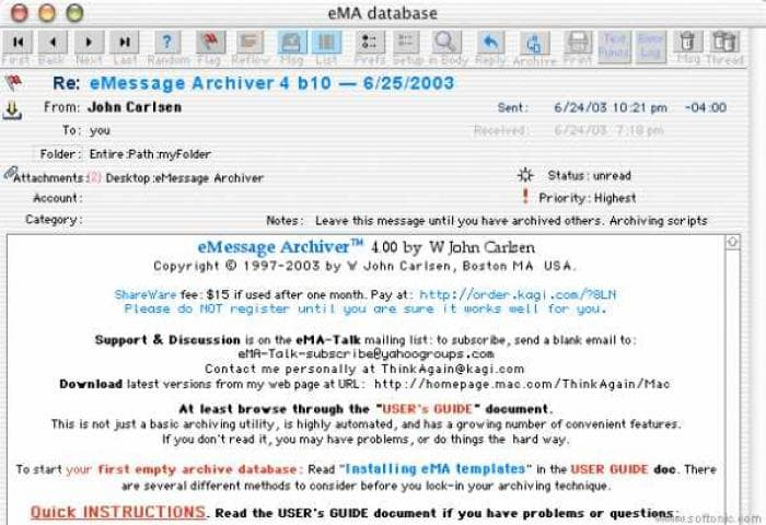 eMessage Archiver
