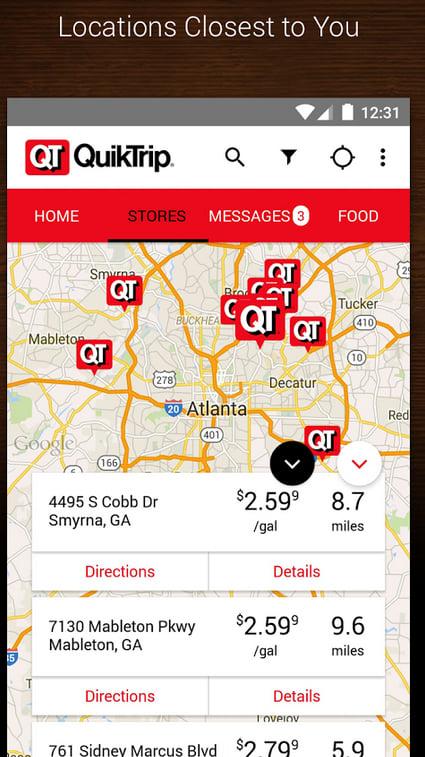 QuikTrip QT Gas, Food Coupons