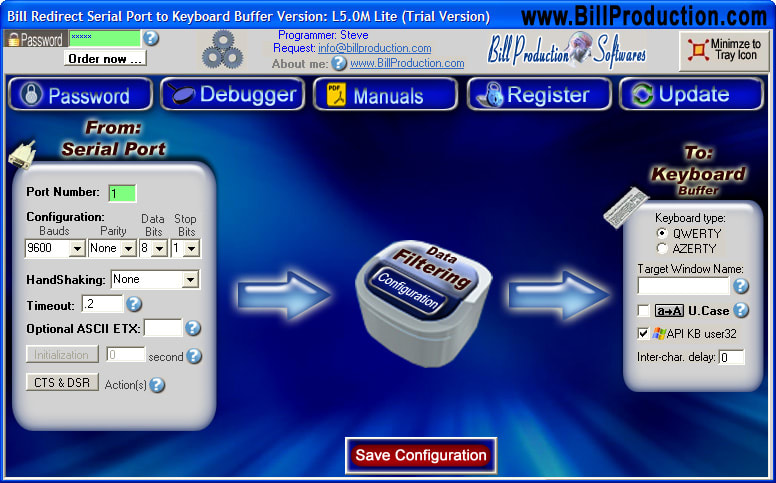 Bill Redirect Serial to Keyboard Buffer Lite
