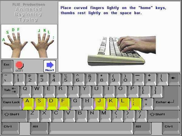 Animated Beginning Typing