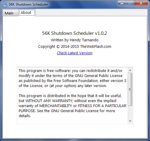56K Shutdown Scheduler